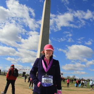 Geena @ Cherry Blossom 10 Miler, April 2016