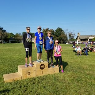 Lynn winning 3rd place in her AG - Smoky Mountains Half - Sept 2017