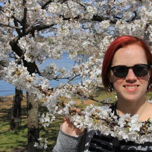Geena in Cherry Blossom heaven :)