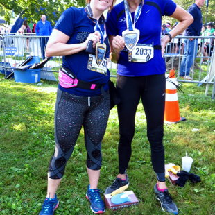 Geena & Lynn - Great Smoky Half Marathon - Sept 2017