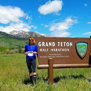 Lynn & Geena @ Grand Teton Half June 2016